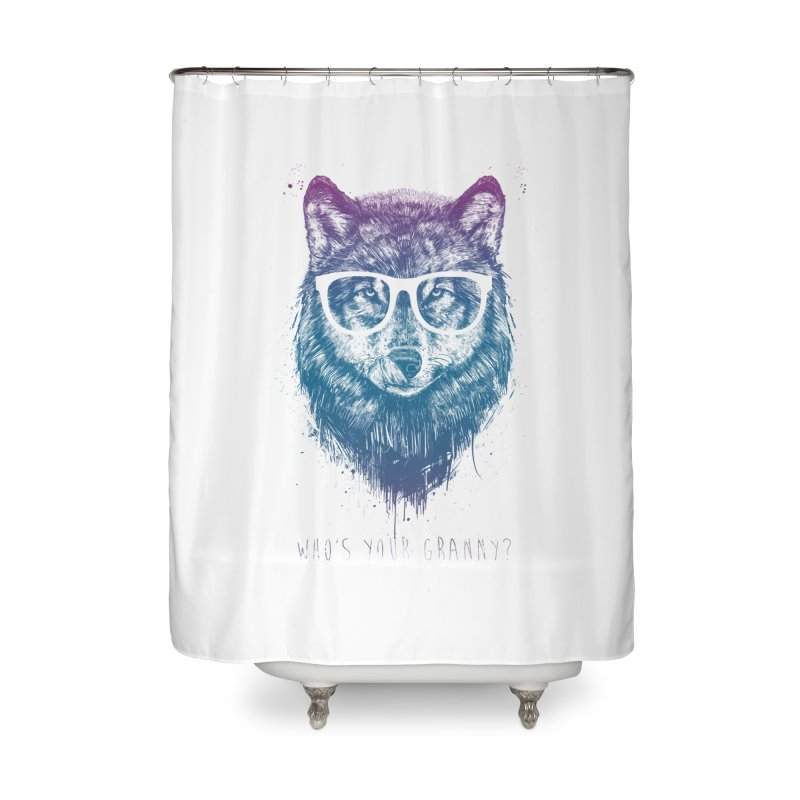 Who's your granny? Home Shower Curtain by Balazs Solti