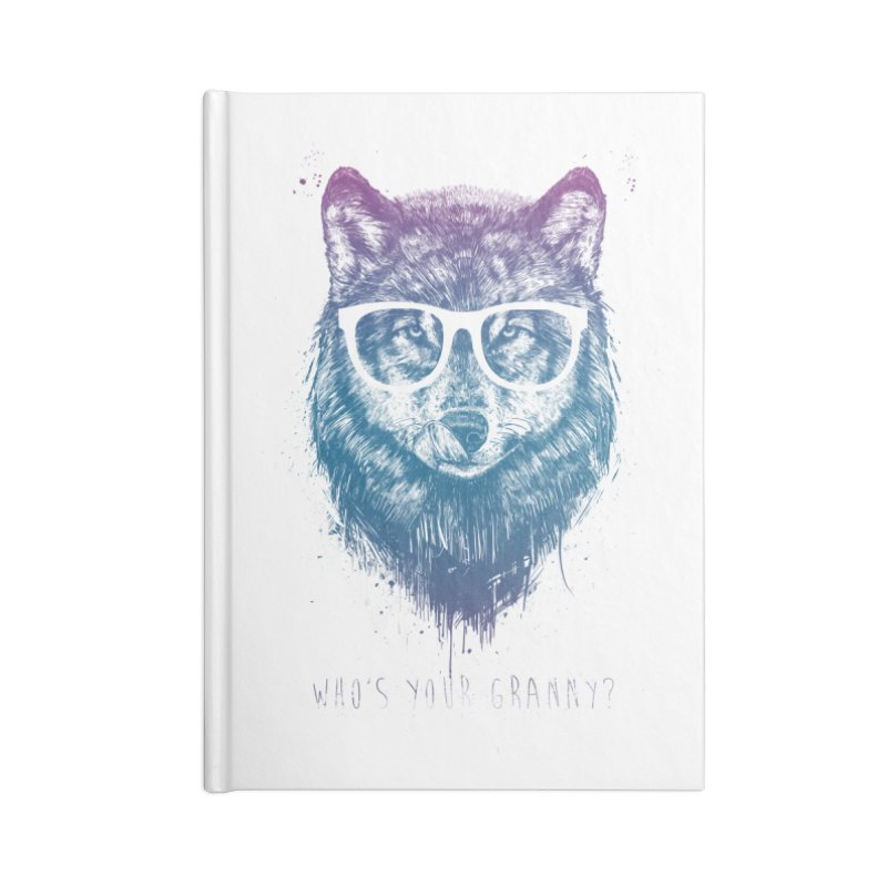 Who's your granny? Accessories Blank Journal Notebook by Balazs Solti