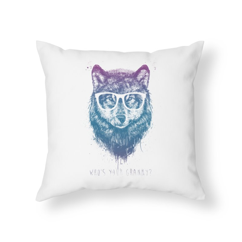 Who's your granny? Home Throw Pillow by Balazs Solti