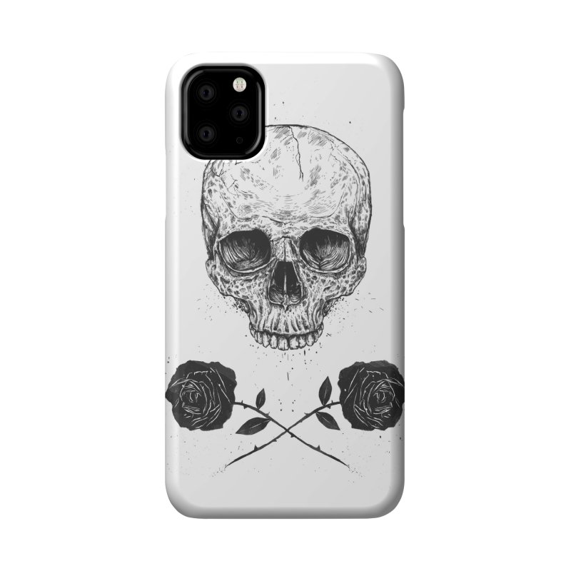 Skull N' Roses Accessories Phone Case by Balazs Solti