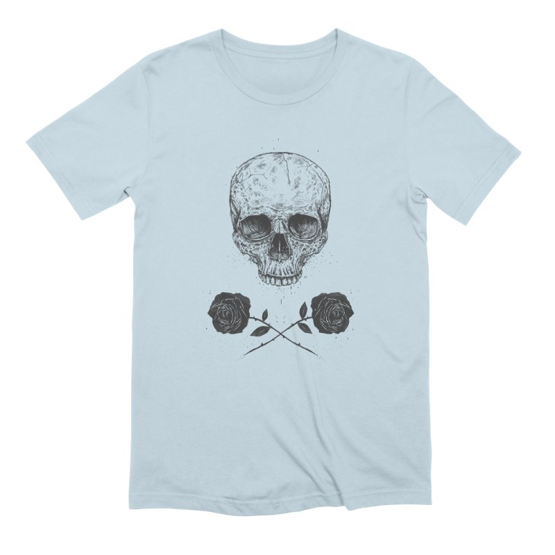 Skull N' Roses Men's Extra Soft T-Shirt by Balazs Solti