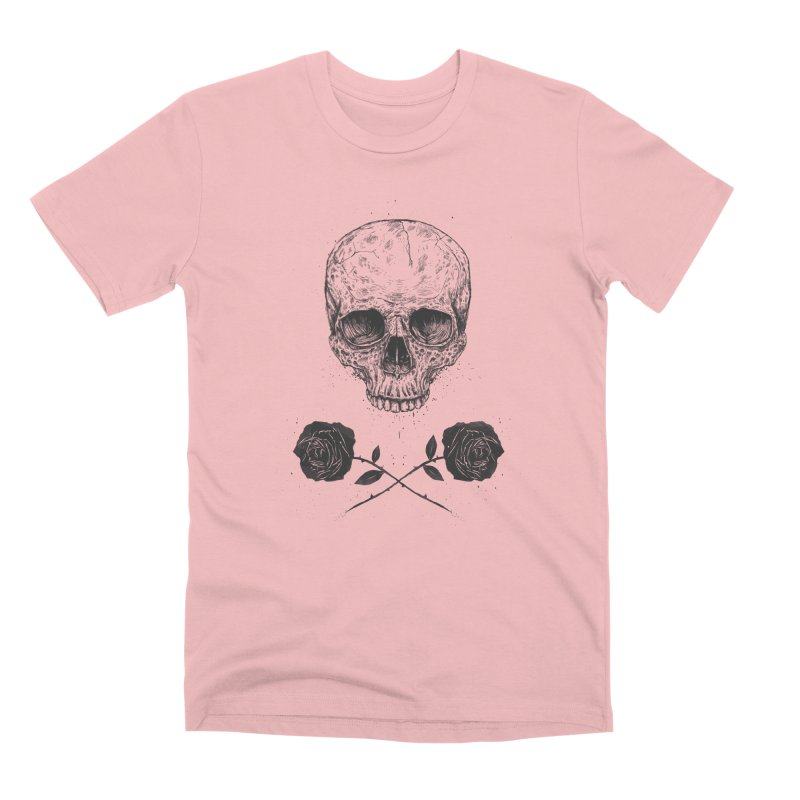 Skull N' Roses Men's Premium T-Shirt by Balazs Solti