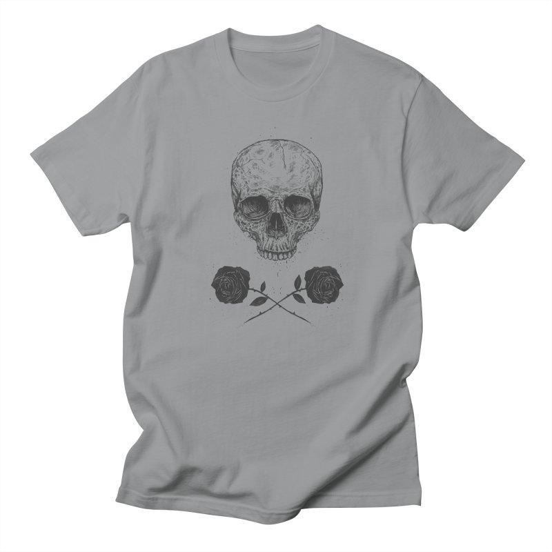 Skull N' Roses Women's Regular Unisex T-Shirt by Balazs Solti
