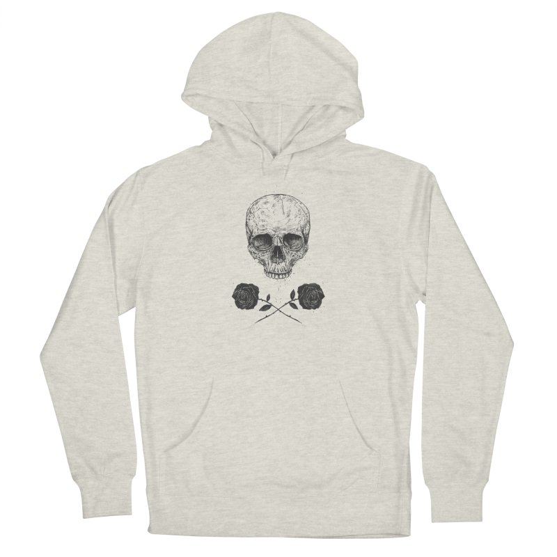 Skull N' Roses Men's Pullover Hoody by Balazs Solti