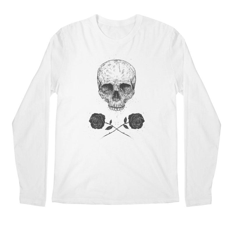 Skull N' Roses Men's Longsleeve T-Shirt by Balazs Solti