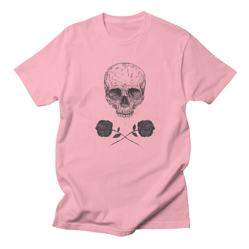 Skull N' Roses Men's T-Shirt by Balazs Solti