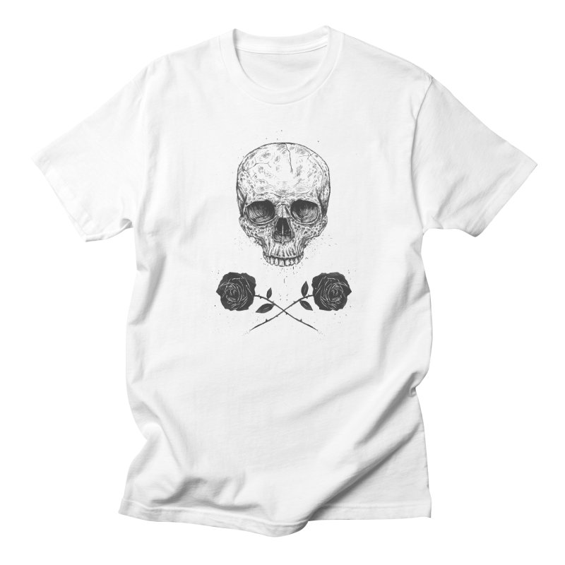 Skull N' Roses Men's T-Shirt by Balazs Solti