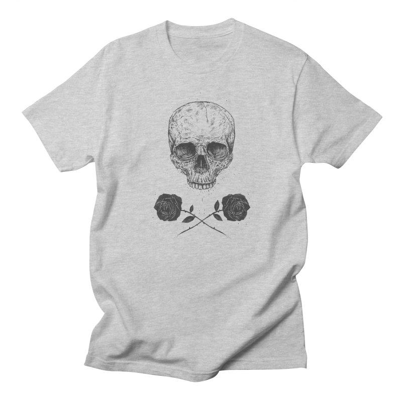 Skull N' Roses Men's Regular T-Shirt by Balazs Solti