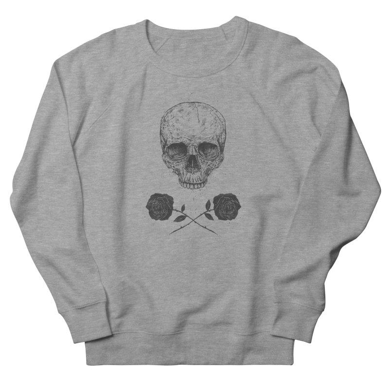 Skull N' Roses Women's Sweatshirt by Balazs Solti