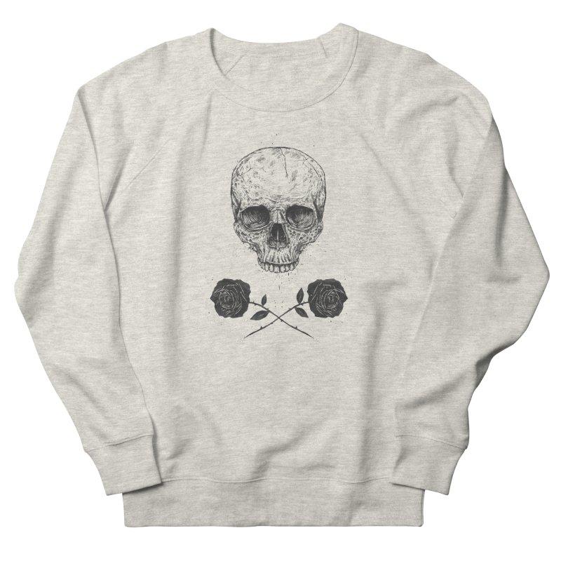 Skull N' Roses Men's Sweatshirt by Balazs Solti