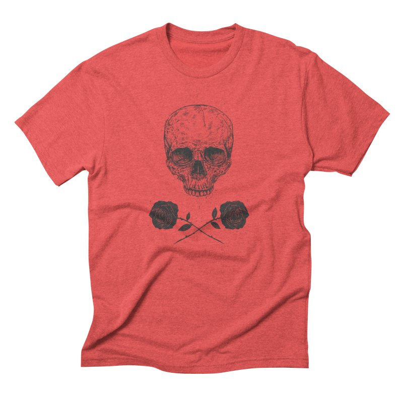 Skull N' Roses Men's Triblend T-shirt by Balazs Solti