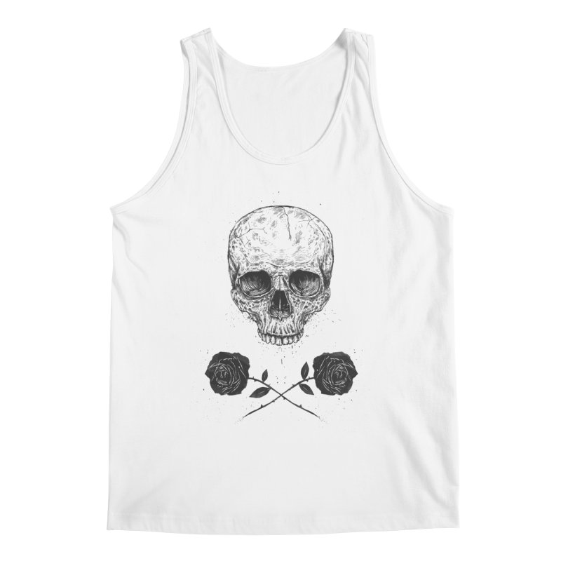 Skull N' Roses Men's Tank by Balazs Solti