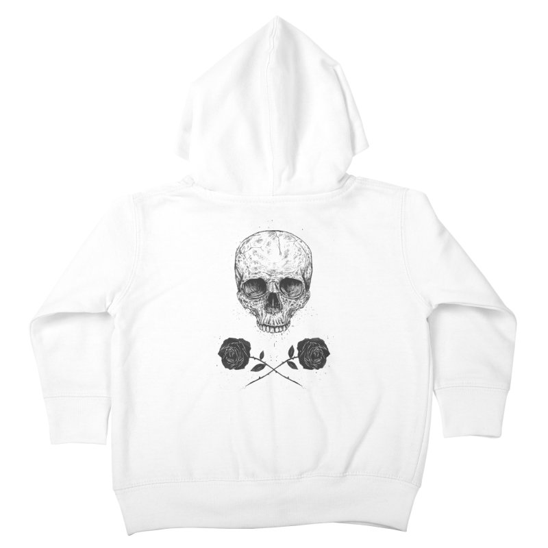 Skull N' Roses Kids Toddler Zip-Up Hoody by Balazs Solti