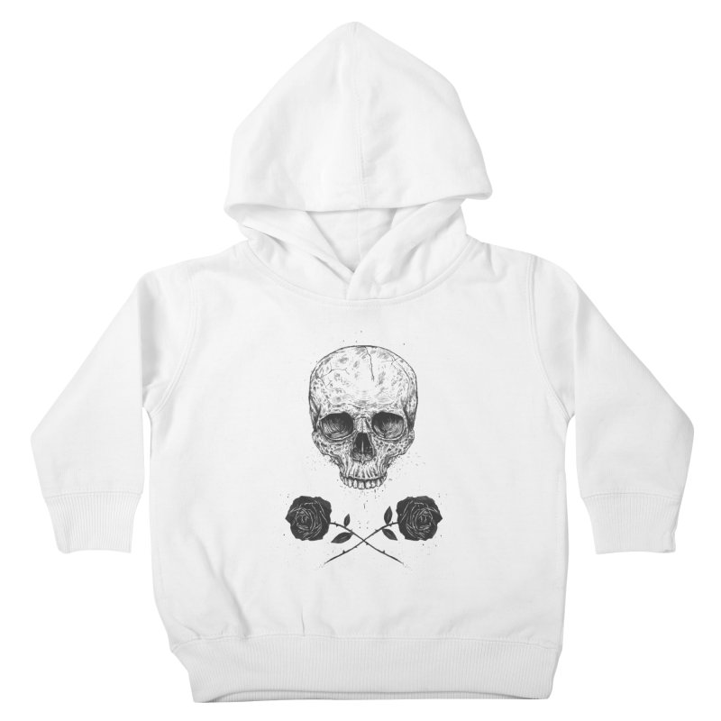 Skull N' Roses Kids Toddler Pullover Hoody by Balazs Solti