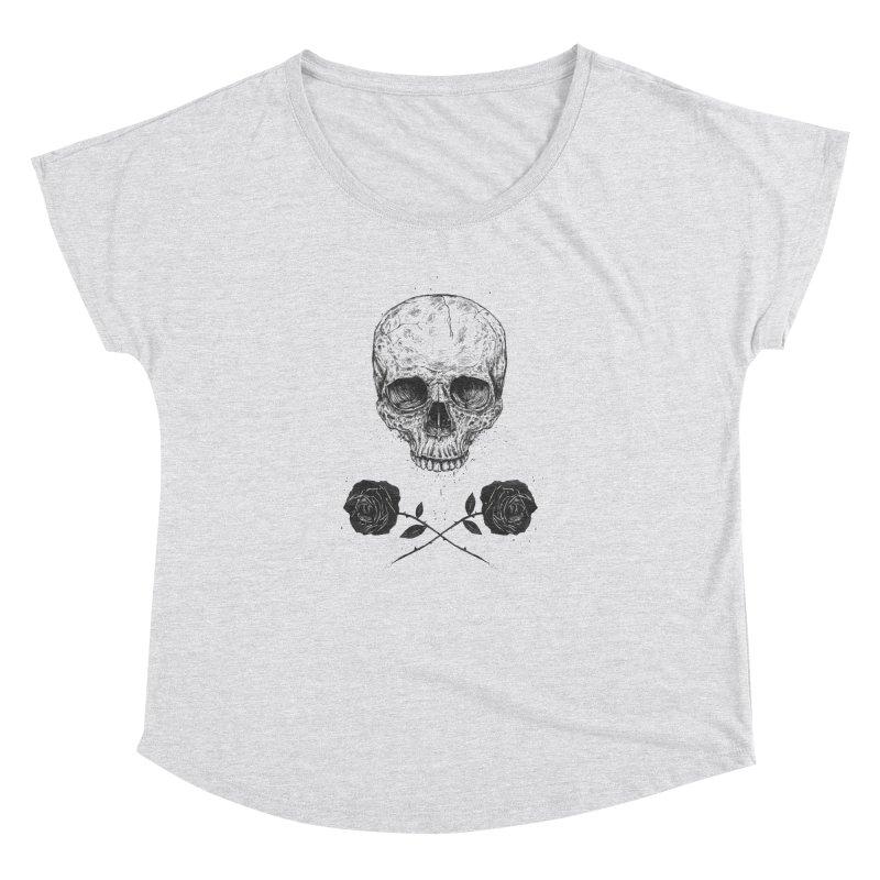Skull N' Roses Women's Dolman by Balazs Solti