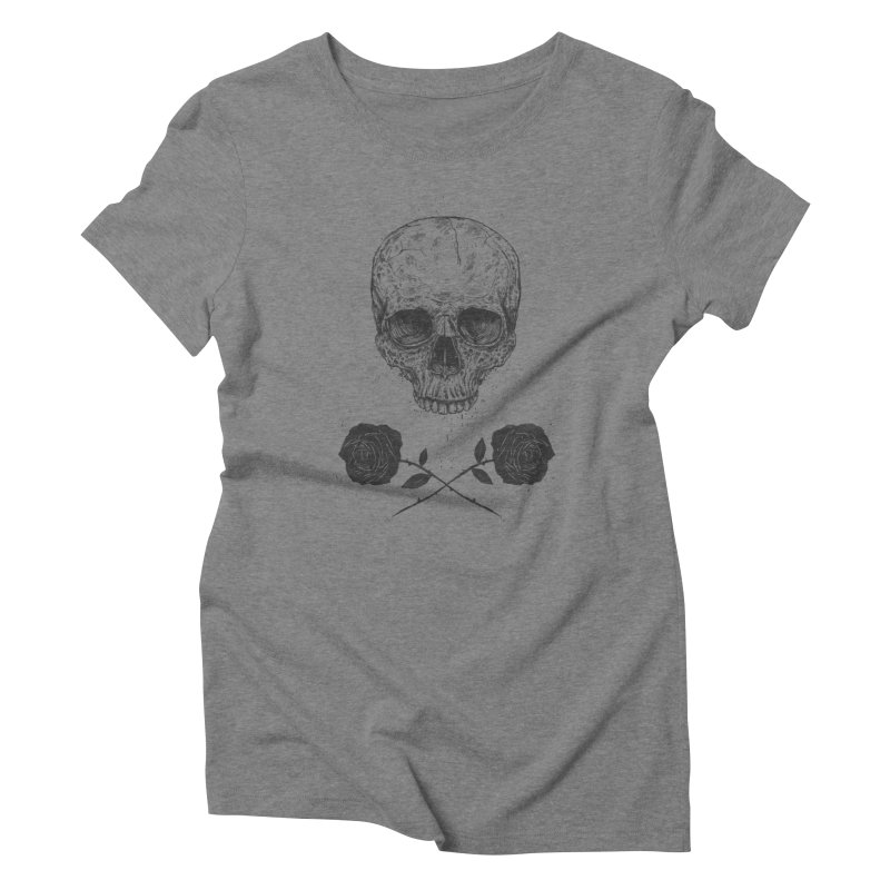 Skull N' Roses Women's Triblend T-shirt by Balazs Solti