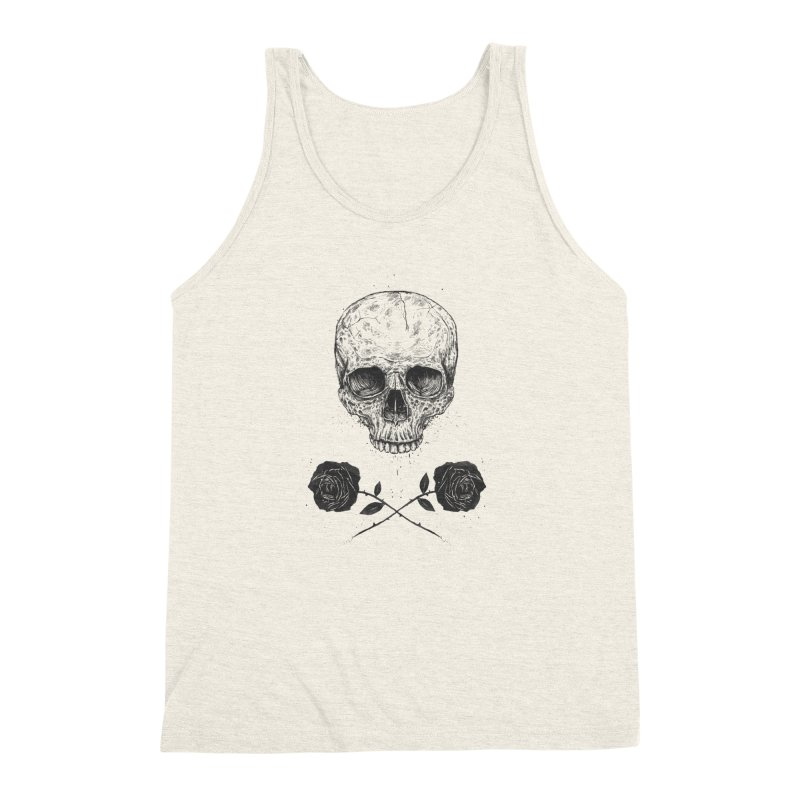 Skull N' Roses Men's Triblend Tank by Balazs Solti