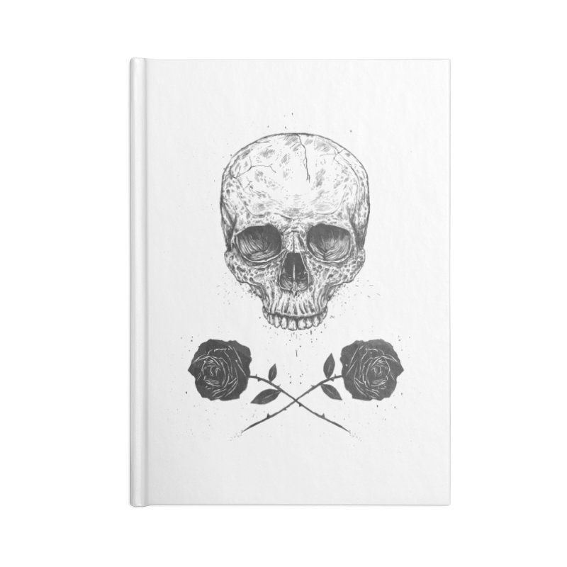 Skull N' Roses Accessories Blank Journal Notebook by Balazs Solti