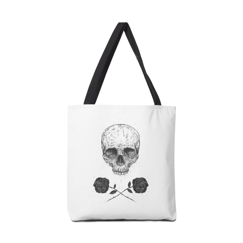 Skull N' Roses Accessories Tote Bag Bag by Balazs Solti