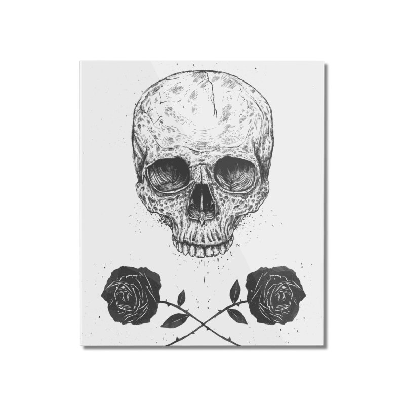 Skull N' Roses Home Mounted Acrylic Print by Balazs Solti
