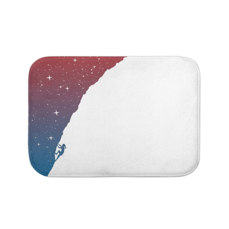 Night climbing Home Bath Mat by Balazs Solti