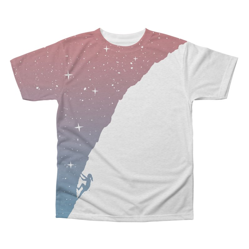 Night climbing Men's Triblend All Over Print by Balazs Solti