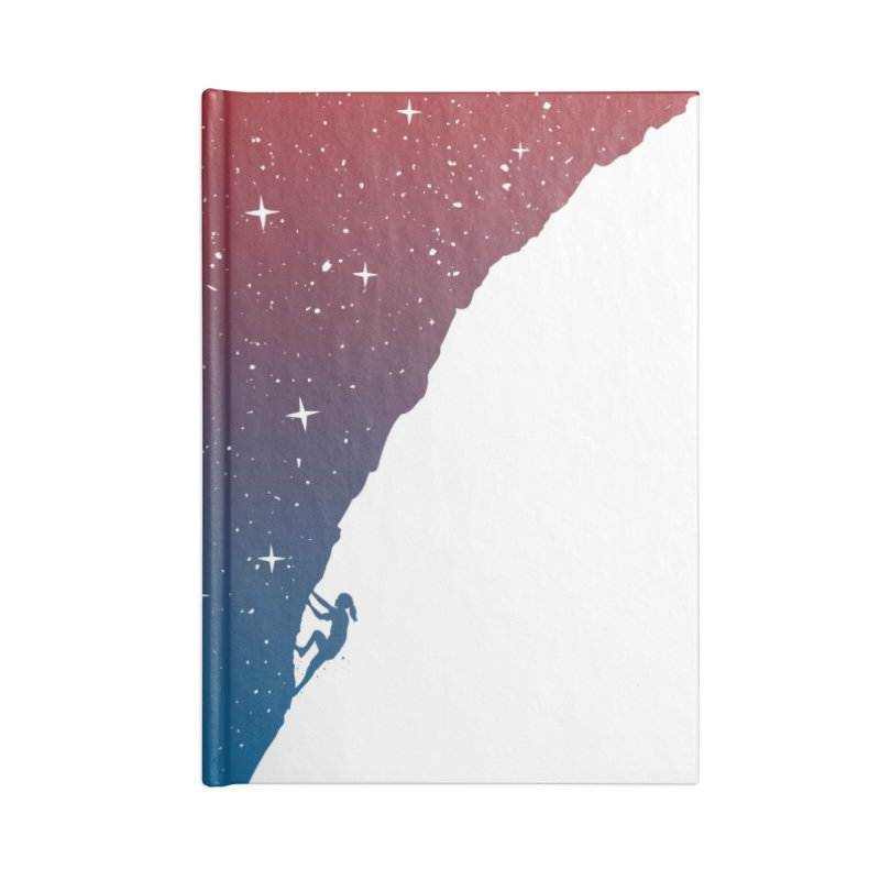 Night climbing Accessories Notebook by Balazs Solti