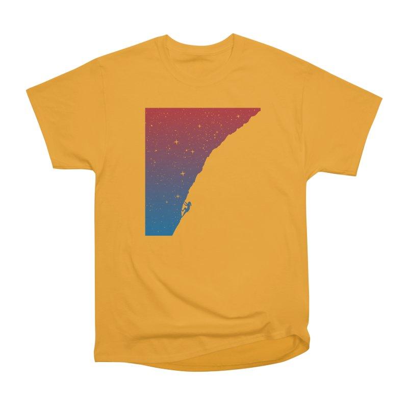 Night climbing Men's Heavyweight T-Shirt by Balazs Solti