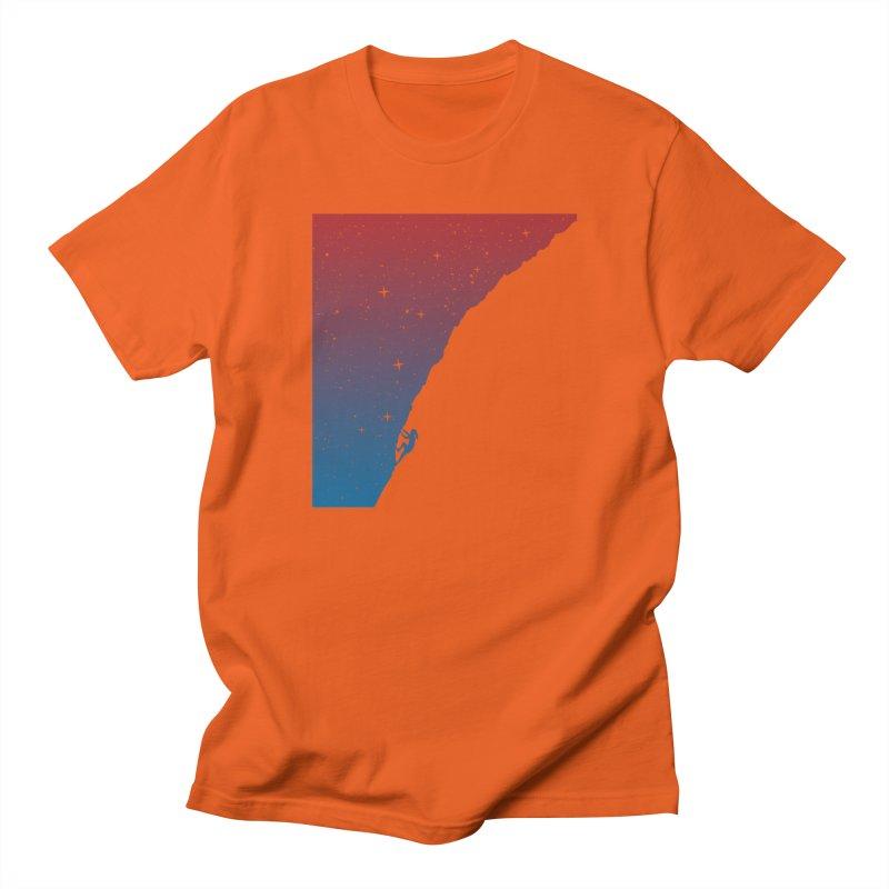 Night climbing Men's T-Shirt by Balazs Solti