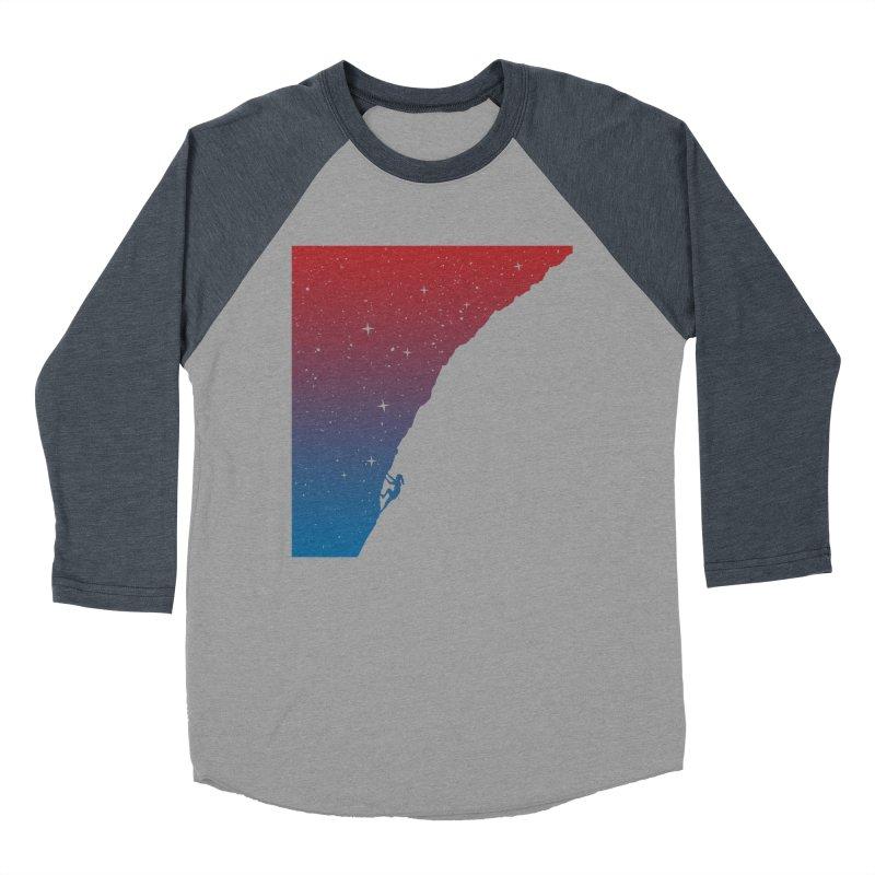 Night climbing Women's Baseball Triblend T-Shirt by Balazs Solti