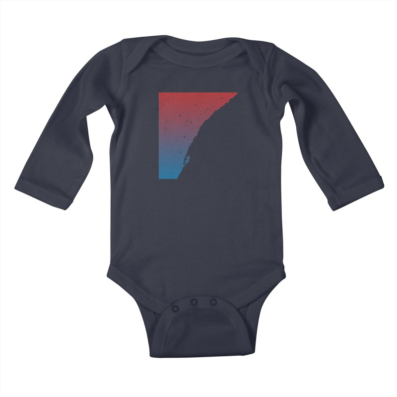 Night climbing Kids Baby Longsleeve Bodysuit by Balazs Solti