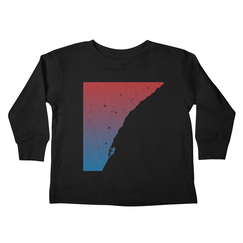 Night climbing Kids Toddler Longsleeve T-Shirt by Balazs Solti