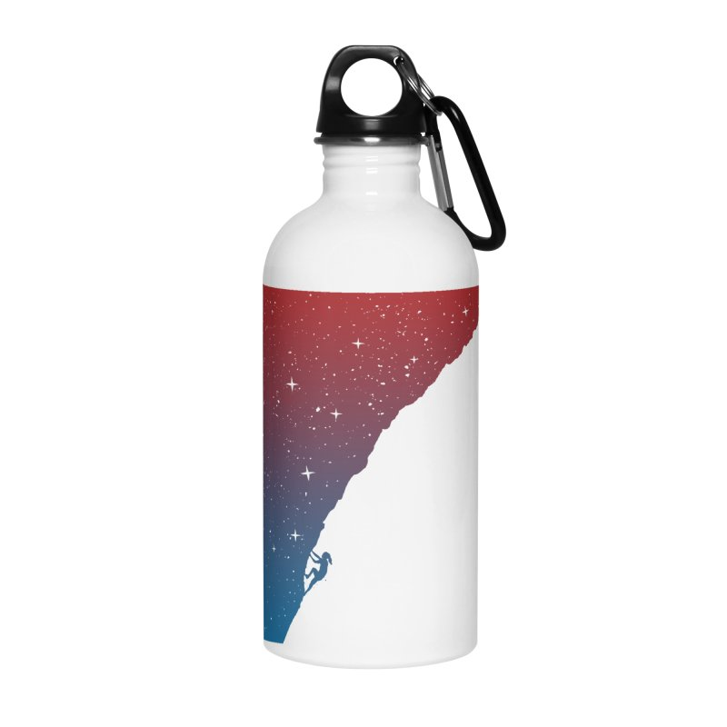 Night climbing Accessories Water Bottle by Balazs Solti