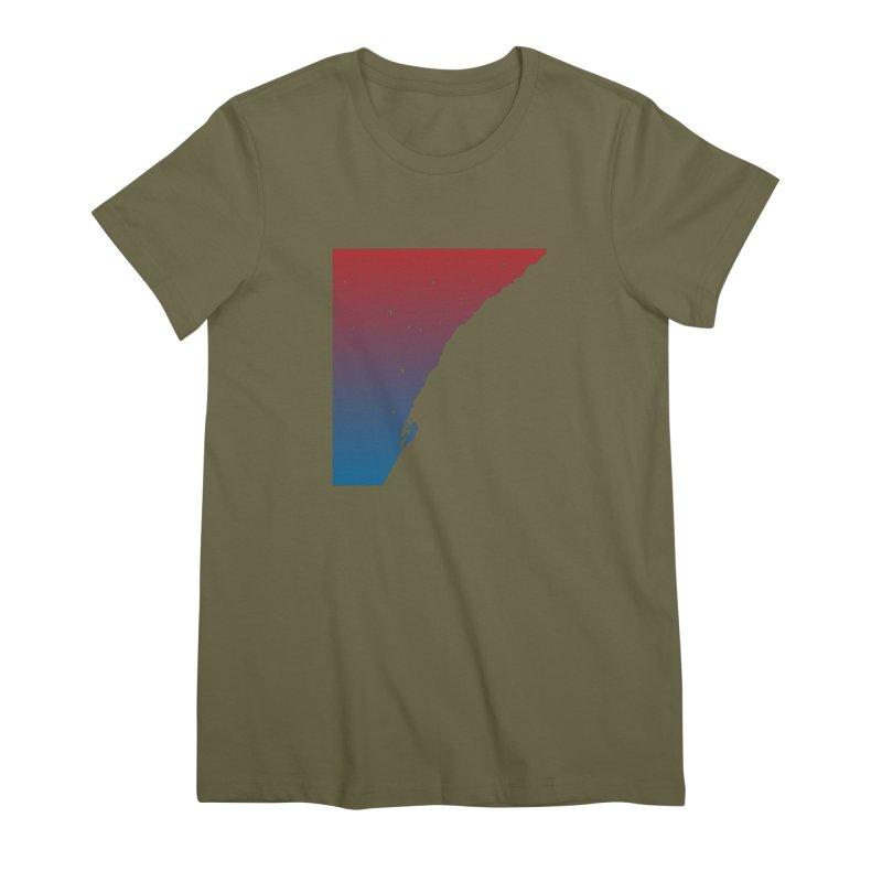 Night climbing Women's Premium T-Shirt by Balazs Solti