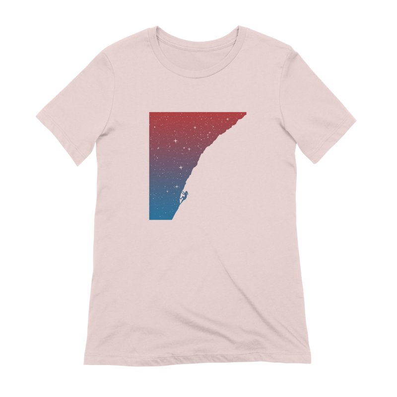 Night climbing Women's Extra Soft T-Shirt by Balazs Solti
