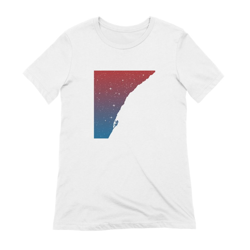Night climbing Women's Extra Soft T-Shirt by Balazs Solti