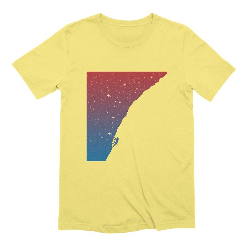 Night climbing Men's Extra Soft T-Shirt by Balazs Solti