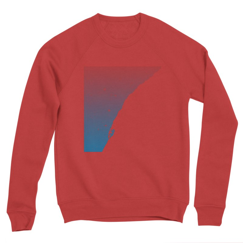 Night climbing Men's Sponge Fleece Sweatshirt by Balazs Solti