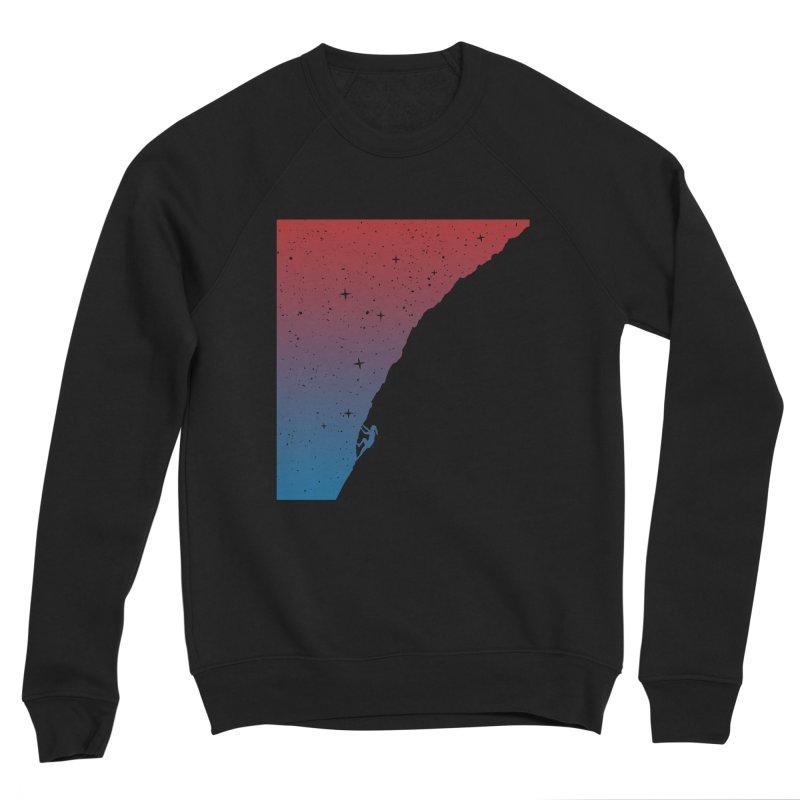 Night climbing Men's Sponge Fleece Sweatshirt by Balazs Solti