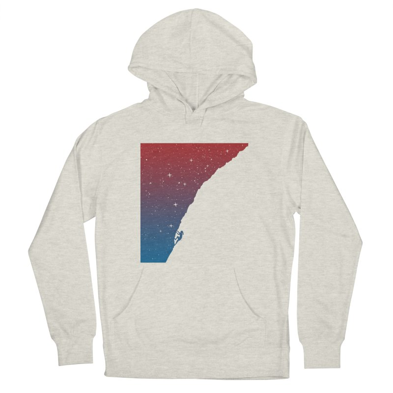 Night climbing Men's French Terry Pullover Hoody by Balazs Solti