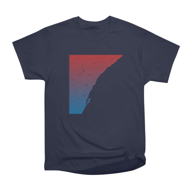 Night climbing Women's Heavyweight Unisex T-Shirt by Balazs Solti