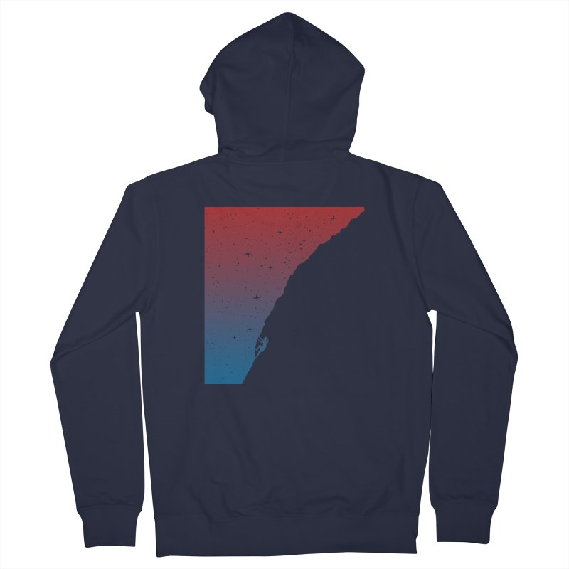 Night climbing Men's French Terry Zip-Up Hoody by Balazs Solti