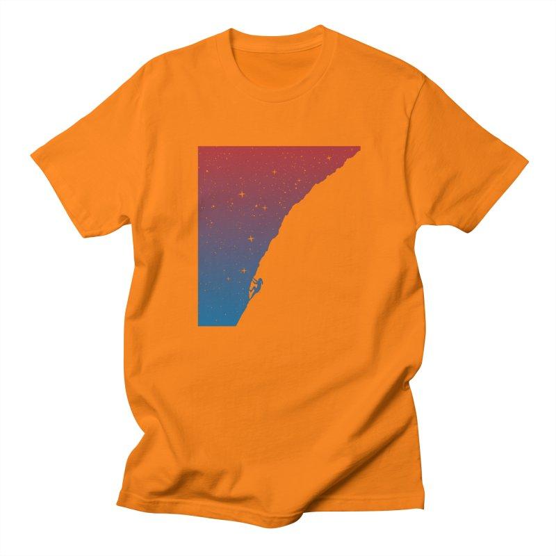 Night climbing Men's Regular T-Shirt by Balazs Solti