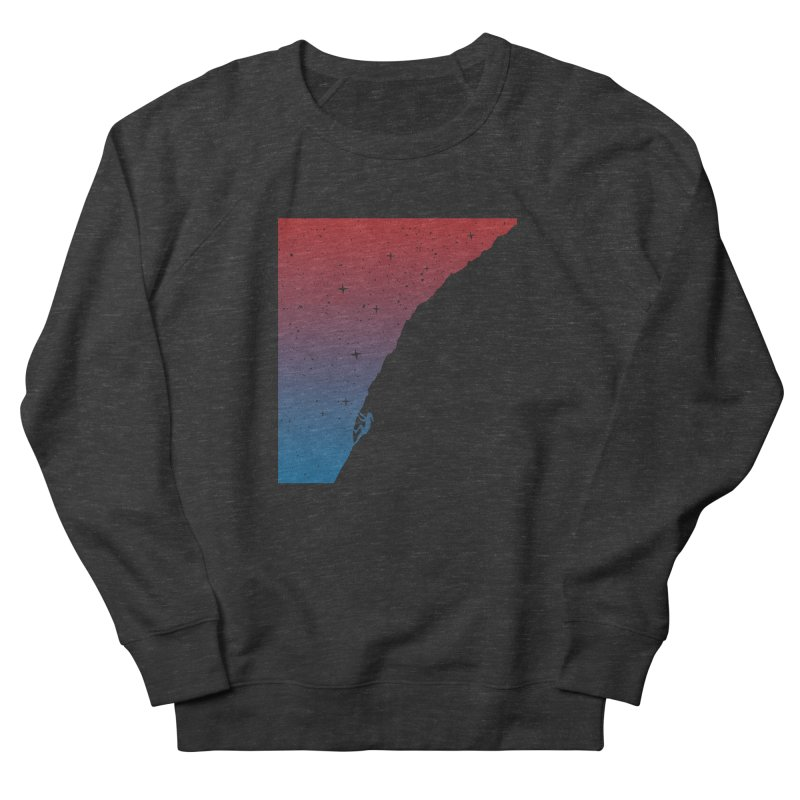 Night climbing Women's French Terry Sweatshirt by Balazs Solti