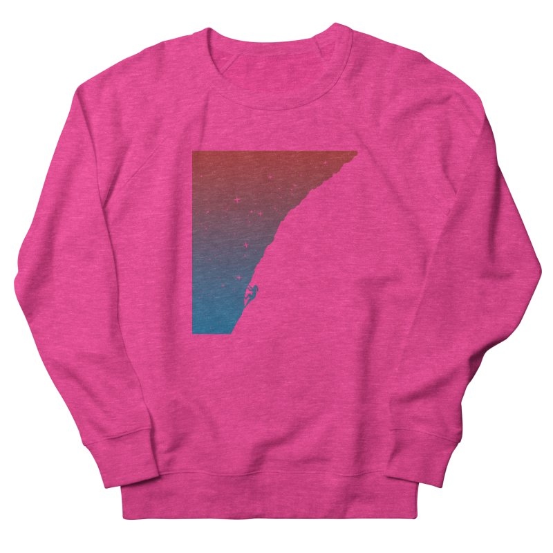 Night climbing Women's French Terry Sweatshirt by Balazs Solti