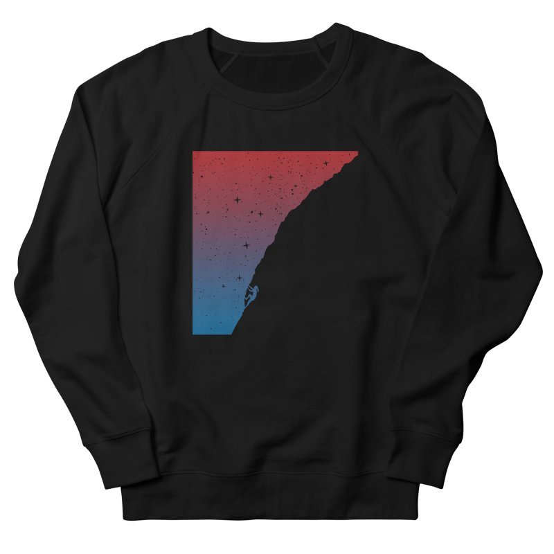 Night climbing Men's French Terry Sweatshirt by Balazs Solti