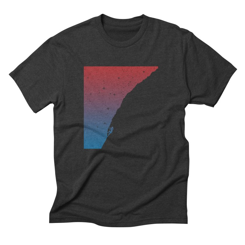 Night climbing Men's Triblend T-Shirt by Balazs Solti