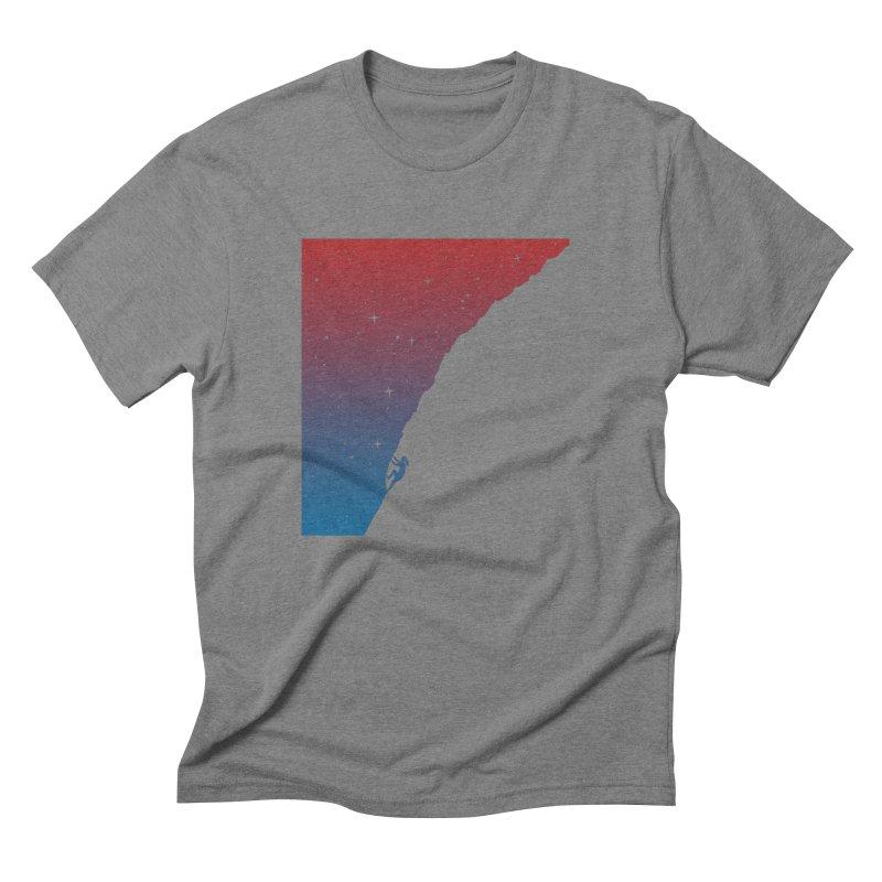 Night climbing Men's Triblend T-Shirt by Balazs Solti