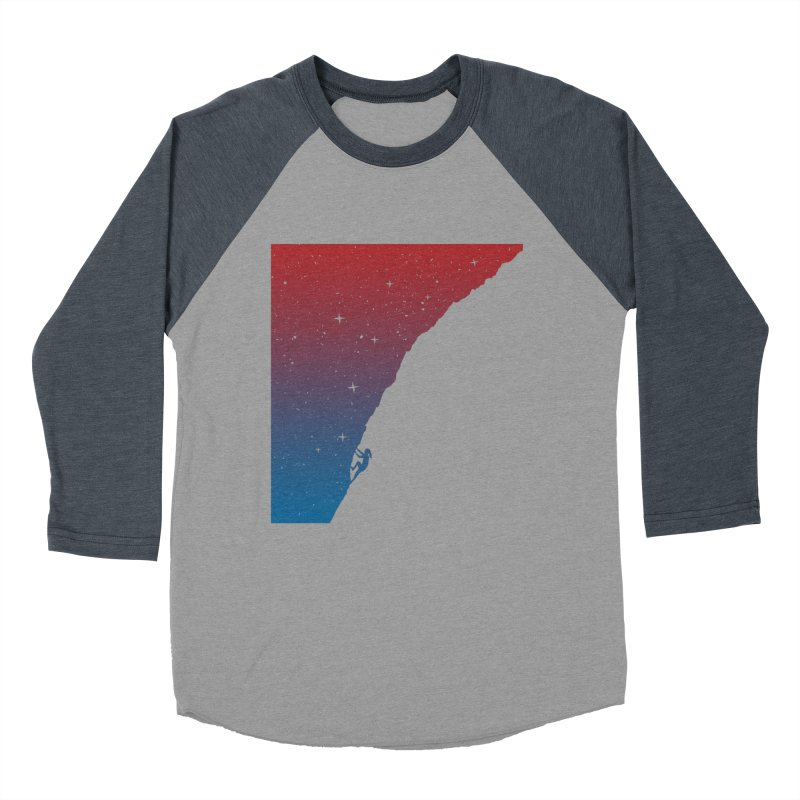 Night climbing Men's Baseball Triblend Longsleeve T-Shirt by Balazs Solti