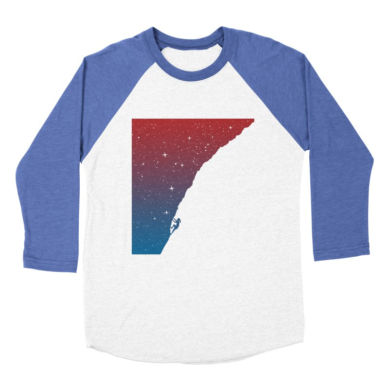 Night climbing Men's Baseball Triblend Longsleeve T-Shirt by Balazs Solti